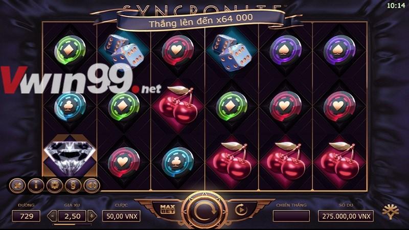 Khám phá Slot Games VWIN : Syncronite - Splitz trò chơi YGG