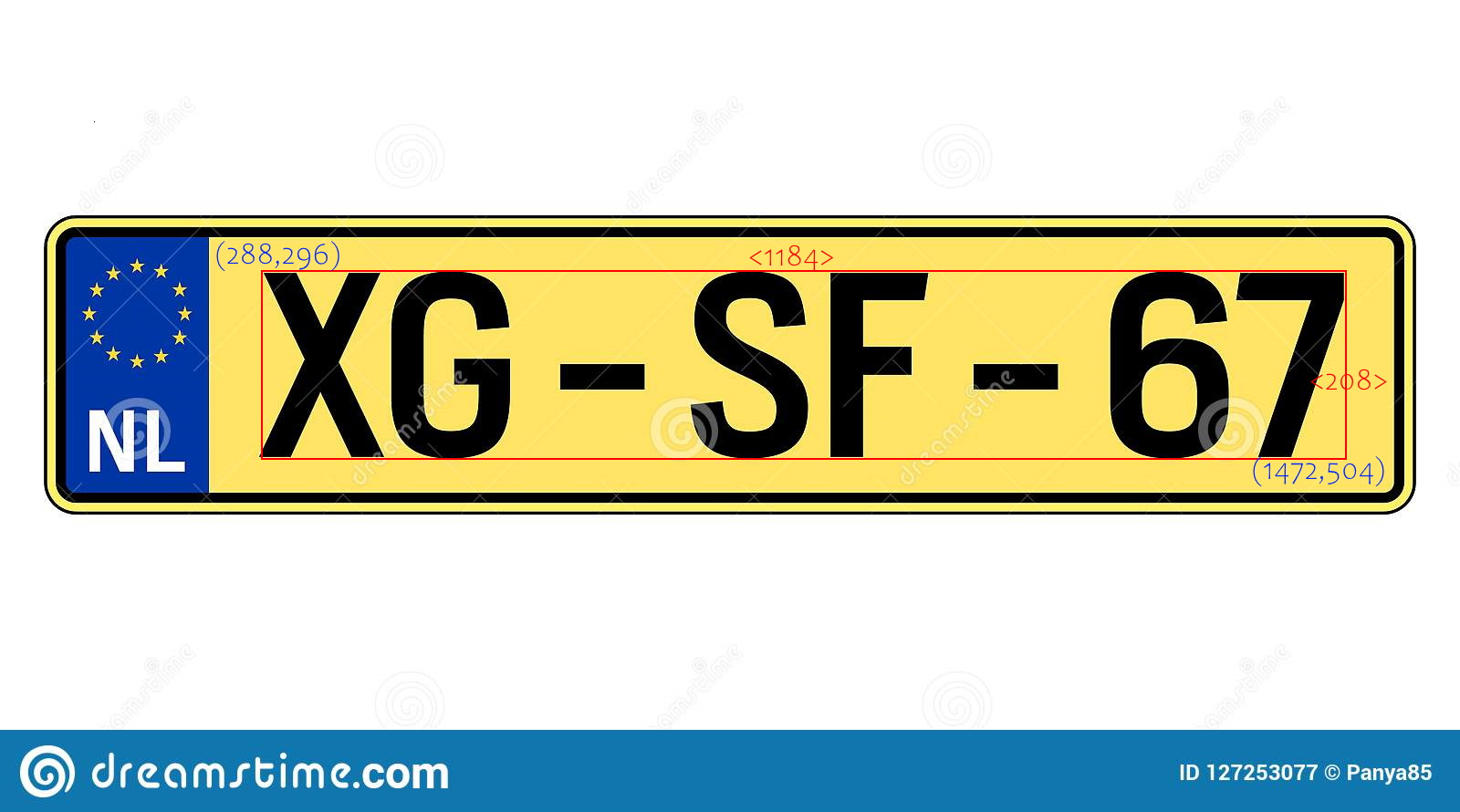 """img """"number plate with coordinate"""""""