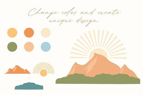 Abstract landscape creator kit