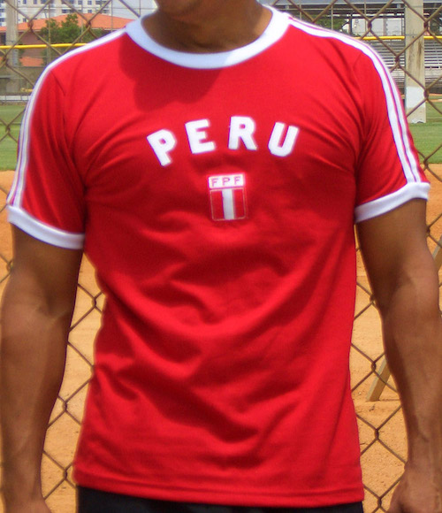 PERU Copa America 2019 Mens Football T-Shirt Retro World Cup Strip Kit Jersey
